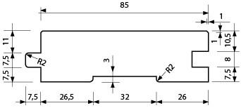 HLL 26x92 mm - interiérový podlahový profil