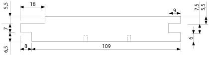 UTS 19x117 mm - vnější, venkovní, exteriérový, fasádní obklad (profil)