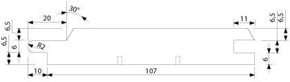 UTV 19 x 117 mm - vnější, venkovní, exteriérový, fasádní obklad (profil)