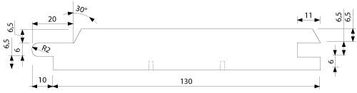 UTV 19x140 mm - vnější, venkovní, exteriérový, fasádní obklad (profil)